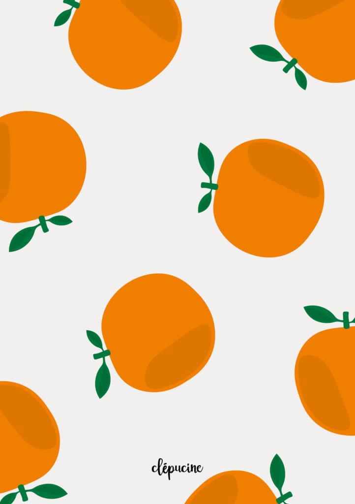 Fond d'écran motif orange, design graphique