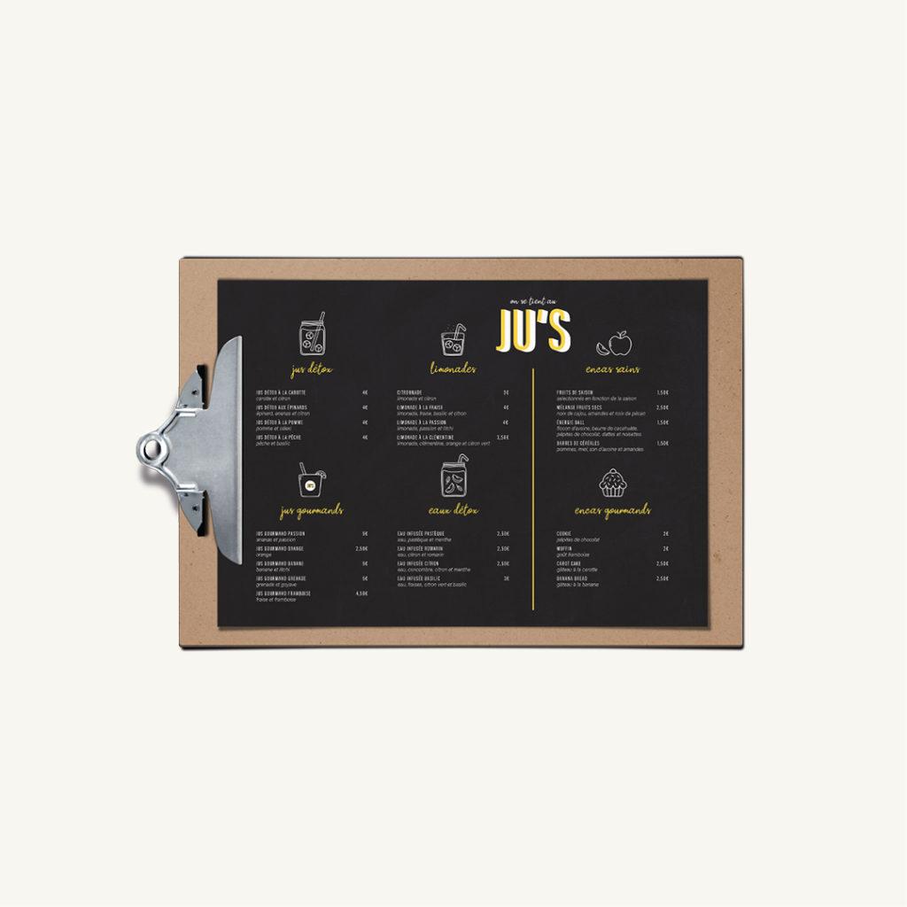 Projet graphique boutique de jus de fruit frais