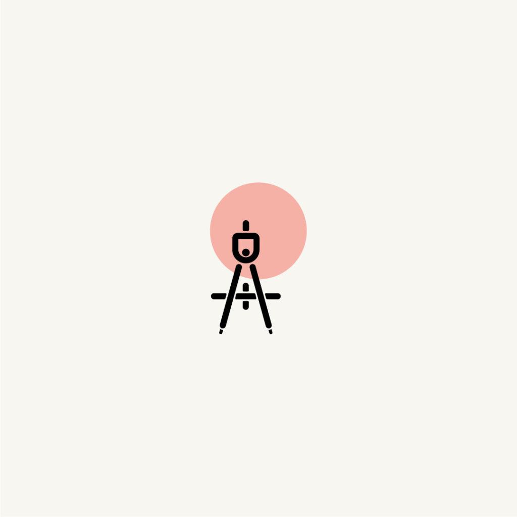 Pictogramme clépucine graphiste, création personnalisé, rigueur