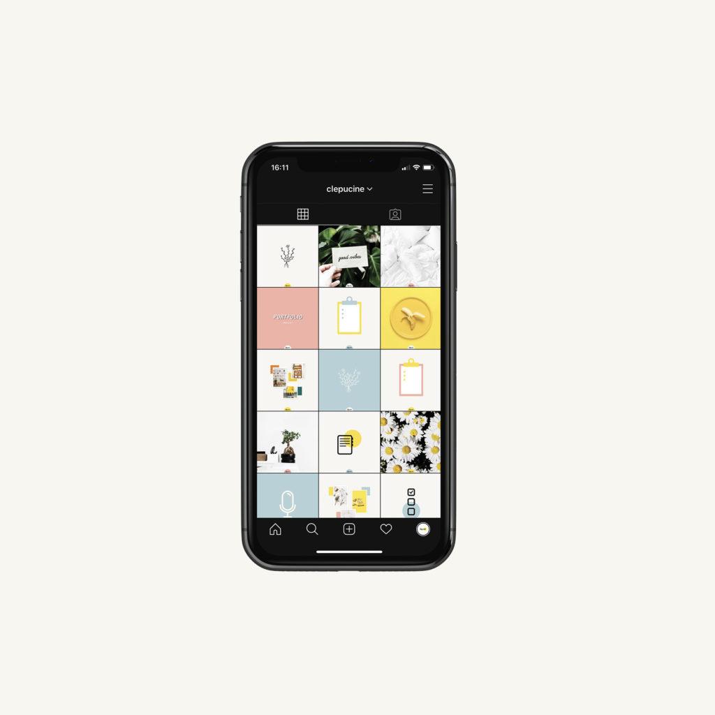 Social media, Instagram gestion, mockup iphone 11